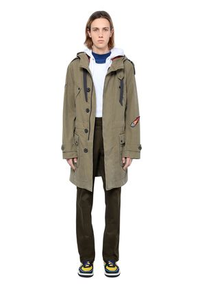 WASHED COTTON TWILL PARKA W/ PATCHES