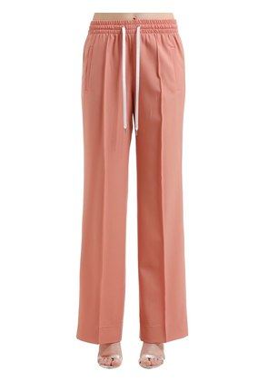 STRETCH WOOL WIDE PANTS