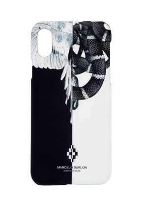 SNAKE & WING PRINT IPHONE X COVER