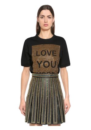LOVE YOU MORE EMBELLISHED JERSEY T-SHIRT