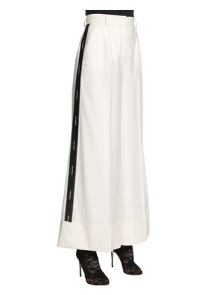 LOGO BAND COOL WOOL WIDE LEG PANTS