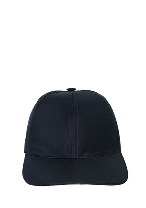COTTON TWILL BASEBALL HAT W/ STRIPES
