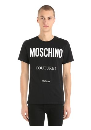 COUTURE! PRINTED COTTON JERSEY T-SHIRT