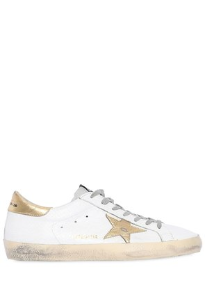 SUPER STAR EMBOSSED LEATHER SNEAKERS