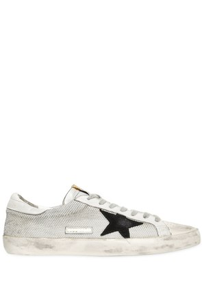 SUPER STAR MESH & LEATHER SNEAKERS