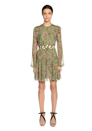 FLORAL PRINTED SILK GEORGETTE DRESS