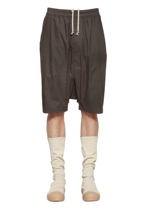 DRAWSTRING COTTON POPLIN SHORTS