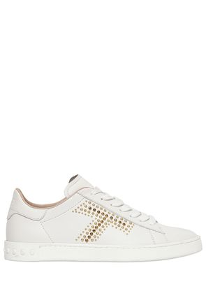 20MM STUDDED T LEATHER SNEAKERS