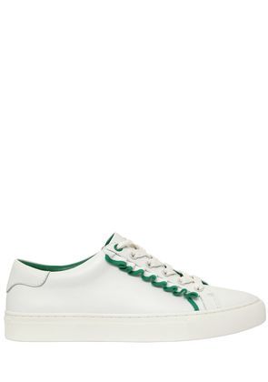 20MM RUFFLED LEATHER SNEAKERS