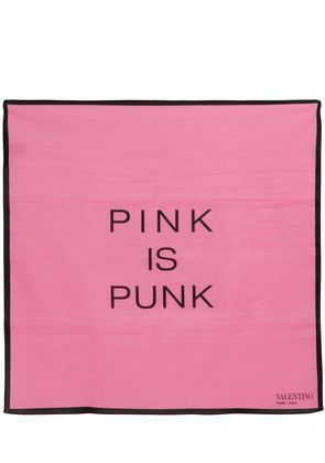 PINK IS PUNK PRINTED COTTON SCARF