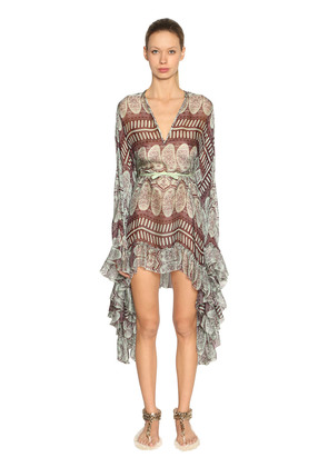 PRINTED SILK GEORGETTE DRESS