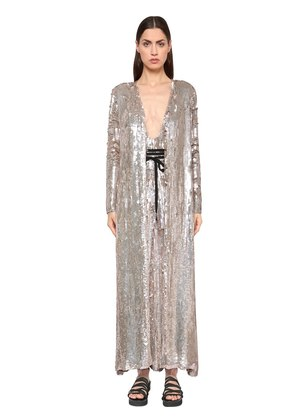 SEQUINED VISCOSE COAT
