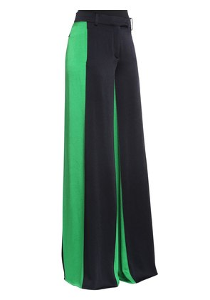 TEXTURED SATIN WIDE LEG PANTS