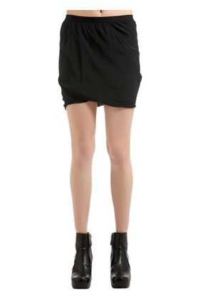 BUD DRAPED SILK CREPE SHORTS