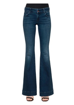 LOW RISE LOVE STORY FLARE DENIM JEANS
