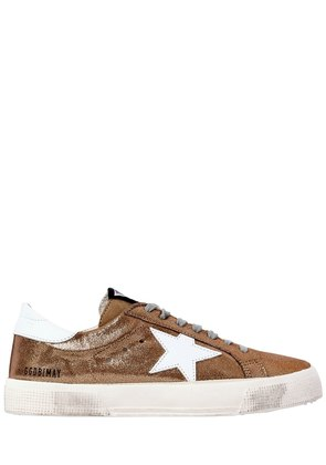20MM MAY METALLIC LEATHER SNEAKERS