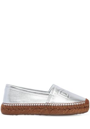 30MM METALLIC LEATHER ESPADRILLES