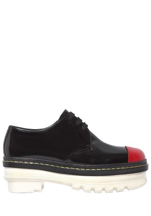 50MM BRUSHED LEATHER LACE-UP SHOES