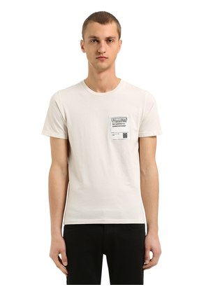 COTTON JERSEY T-SHIRT W/ PATCH