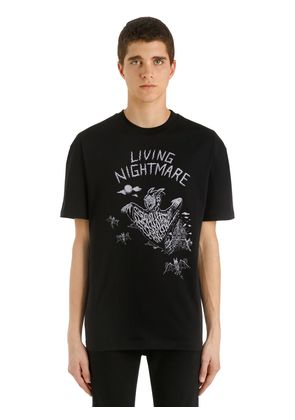LIVING NIGHTMARE PRINTED JERSEY T-SHIRT