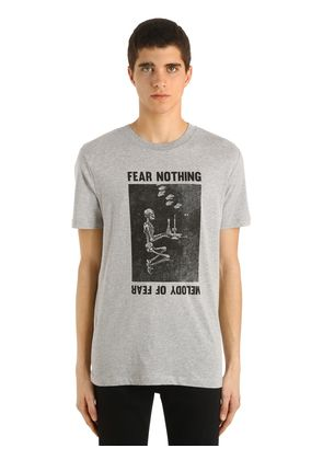 FEAR NOTHING PRINT COTTON JERSEY T-SHIRT