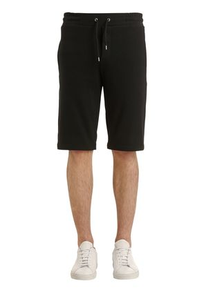 MCQ EMBROIDERED COTTON SWEAT SHORTS