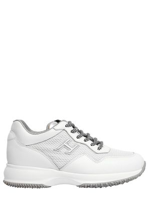60MM INTERACTIVE LEATHER & NET SNEAKERS