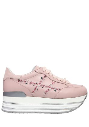 70MM MAXI 222 EMBROIDERY LEATHER SNEAKER