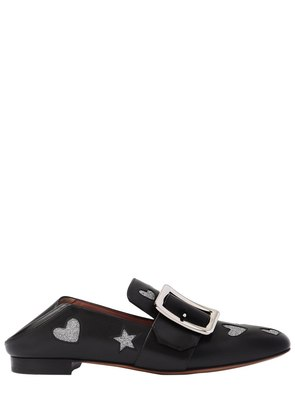 10MM JANELLE HEARTS LEATHER LOAFERS
