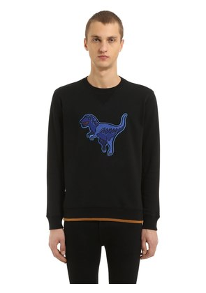 T-REX PATCH COTTON JERSEY SWEATSHIRT