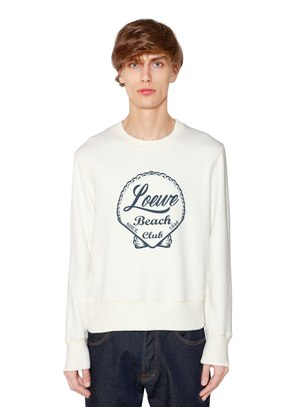 BEACH PRINTED COTTON JERSEY SWEATSHIRT