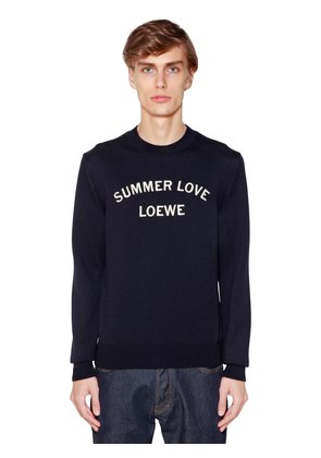 SUMMER EMBROIDERED WOOL BLEND SWEATER