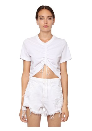 HIGH TWIST CROPPED JERSEY T-SHIRT