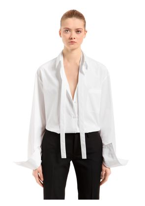 COTTON SHIRT WITH TIES
