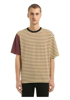 OVERSIZED STRIPED COTTON JERSEY T-SHIRT