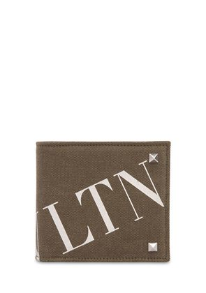 LOGO PRINT COTTON CANVAS WALLET