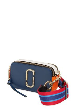 SNAPSHOT SAFFIANO LEATHER SHOULDER BAG
