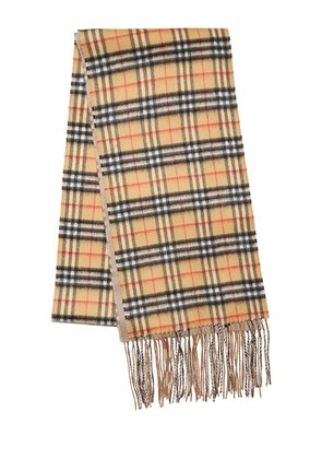 XL REVERSIBLE NEW CHECK CASHMERE SCARF