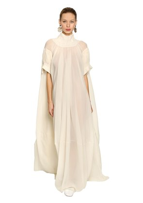 SILK CREPE LONG DRESS