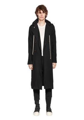 HOODED VISCOSE CADY SOFT TRENCH COAT