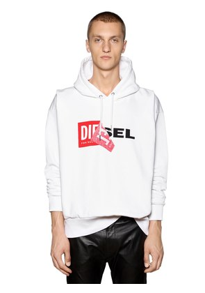 OVERSIZE REWORKED LOGO HOODED SWEATSHIRT