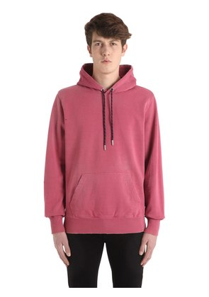 HOODED WASHED COTTON SWEATSHIRT