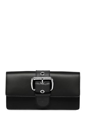 ALEX LEATHER CLUTCH W/ BUCKLE