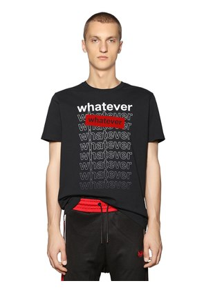 WHATEVER PRINTED COTTON JERSEY T-SHIRT