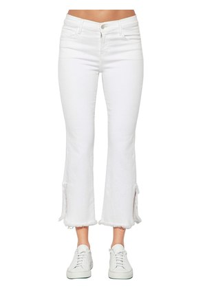 SELENA BOOT CUT CROP STRETCH DENIM JEANS