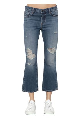 AUBRIE BOOT CUT CROPPED DENIM JEANS