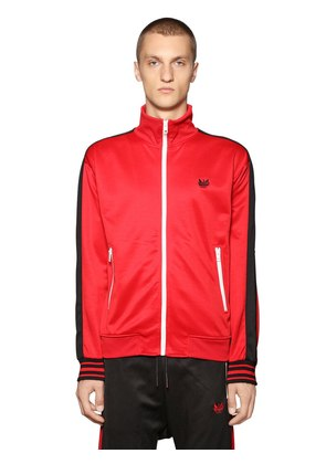 ZIP-UP TWO TONE TRACK JACKET