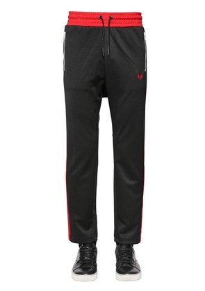 TWO TONE TRACK PANTS W/ SIDE BANDS