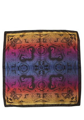 PAISLEY PRINTED SILK SATIN POCKET SQUARE