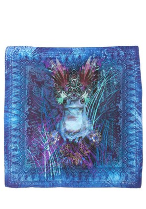 PSYCHEDELIC FROG SILK POCKET SQUARE